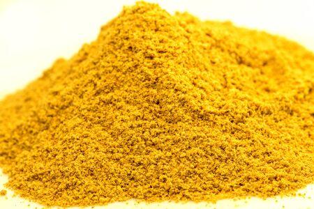 Asafoetida powder in a closeup Imagens