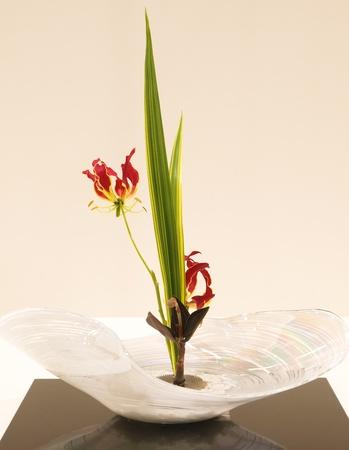 japanese art of flower arrangement photo