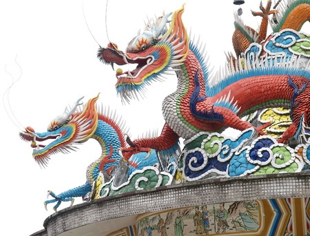chinese temple dragon Stock Photo - 9304575
