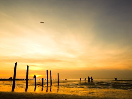 sunset time photo