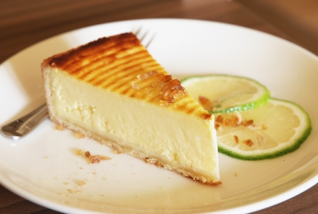 lime slice: lemon pie Stock Photo