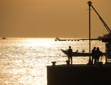 sunset moment photo