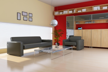 modern living room 3d render photo