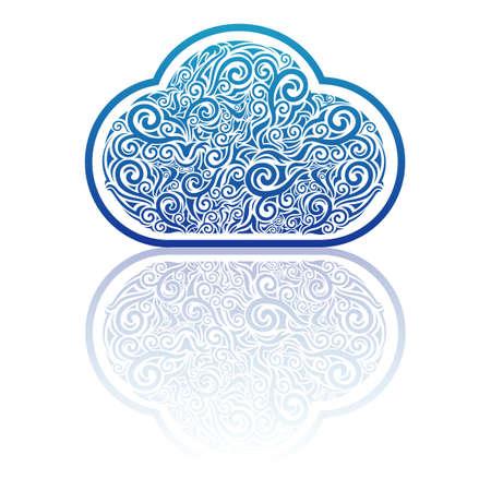 Cloud computing design Stock Vector - 16847544