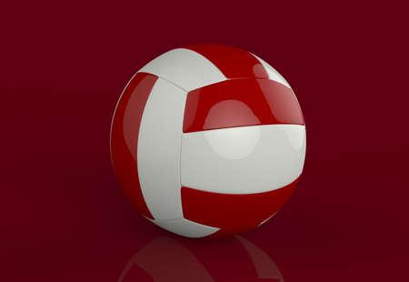 3D Illustration of a Volleyball Stock Illustration - 16865926