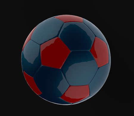 Blue Soccer ball  3d