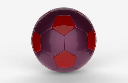 purple football 3D on white background