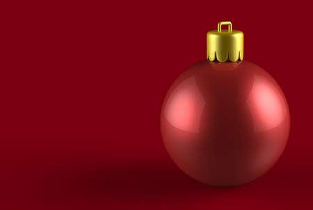 Christmas ball 3D Stock Photo