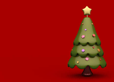 3d of christmas tree  Stock Photo