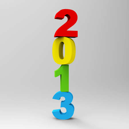 Happy new year 2013 3D render Stock Photo - 16984644