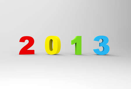 Happy new year 2013 , 3D  photo