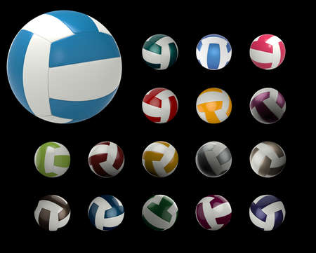 Volleyball, 3D Stock Photo