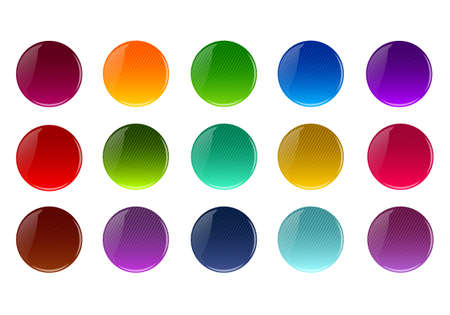 Set of colorful  buttons vector Stock Vector - 17015332
