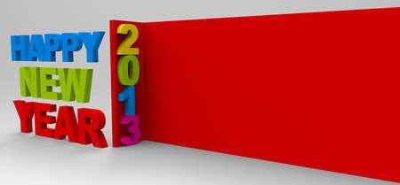 Happy new year 2013 , 3D