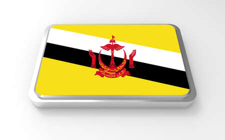 ฺฺBrunei flag 3D Stock Photo