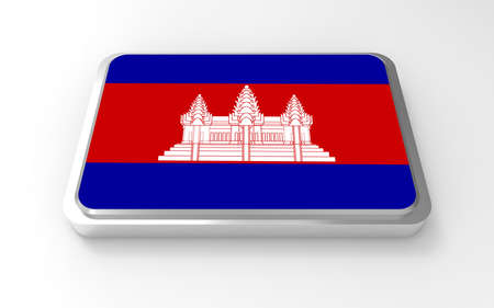 Cambodi flag 3D Stock Photo - 17046203