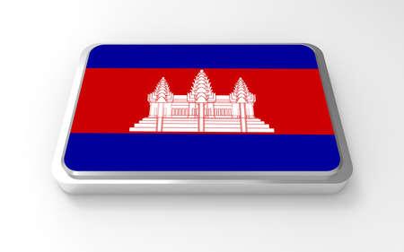 Cambodi flag 3D Stock Photo