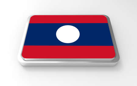 Laos  flag 3D Stock Photo - 17046202