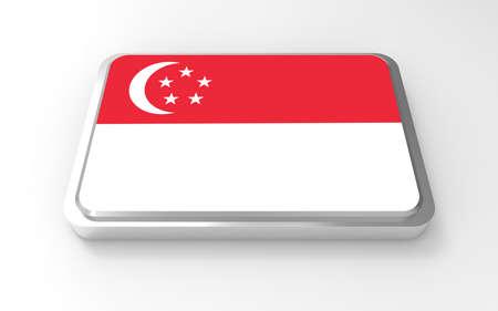 Singapore flag 3D