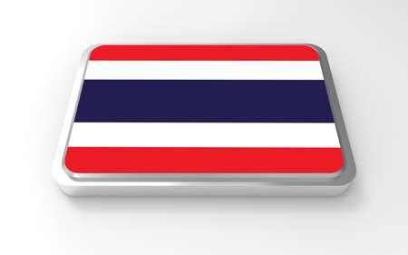 Thailand flag 3D