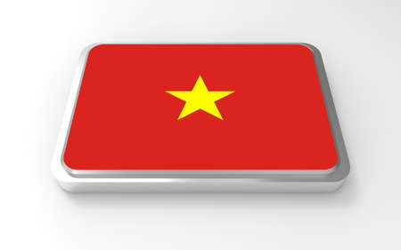 Vietnam flag 3D  photo