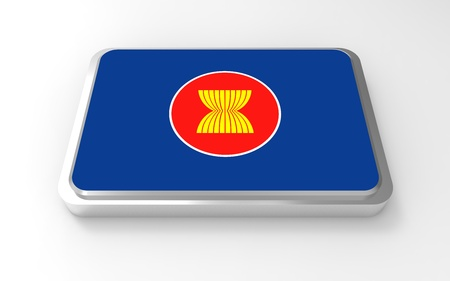 ASEAN flag, AEC logo  Stock Photo - 17047382