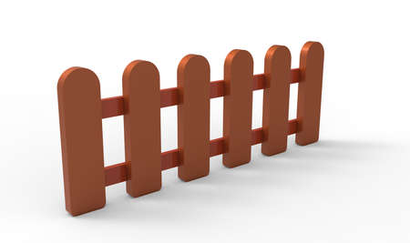 3D fence Stock Photo