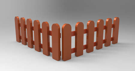 brown fence isolated Stock Photo - 17078131