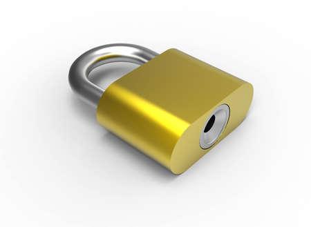padlock 3D Stock Photo - 17078135