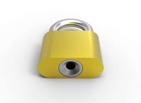 Gold lock 3D Stock Photo - 17078133