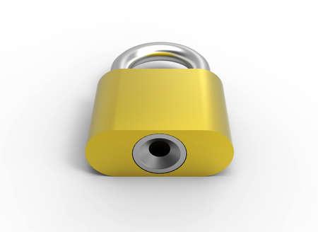 Gold lock 3D Stock Photo