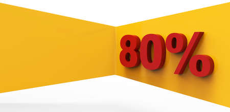 eighty percent 3D Stock Photo - 17077969