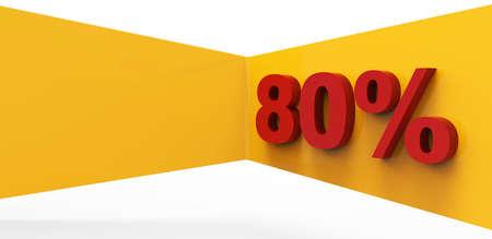 eighty percent 3D Stock Photo