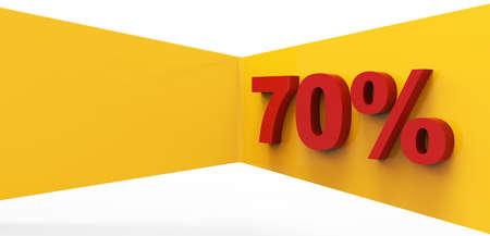 Red seventy percent 3D Stock Photo - 17078145