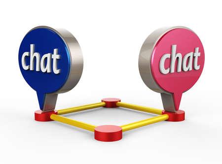 Chat Bubble Icon 3D Stock Photo - 17078158