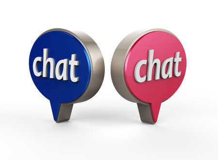 Chat  Icon 3D Stock Photo - 17078155