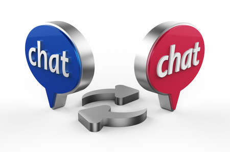 Chat 3D Stock Photo - 17078151