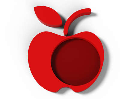 red apple design Stock Photo - 17078154