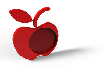 apple design 3d  Stock Photo