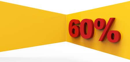 Red sixty percent 3D