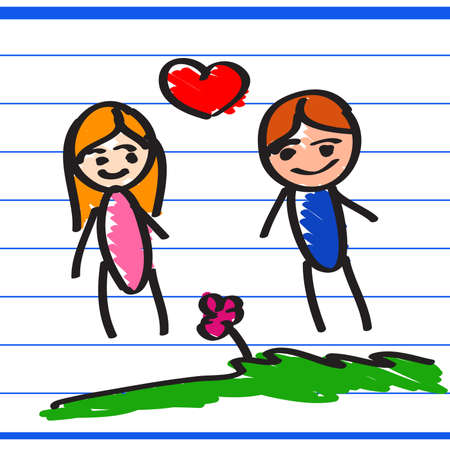 hand drawn Love Illustration