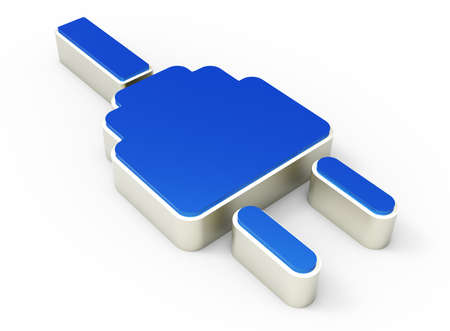electric plug icon 3D  Stock Photo