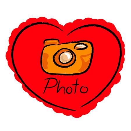 love camera design vector  Illustration