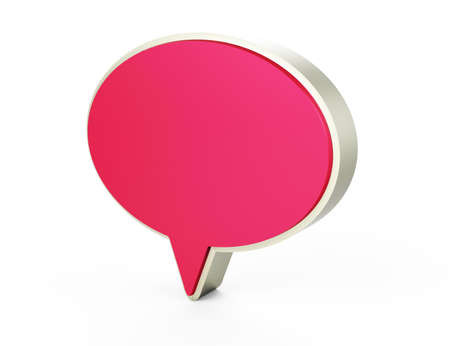 pink chat 3d Stock Photo - 17469109