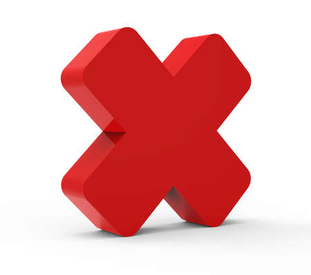 cancel red 3D icon  Stock Photo - 17469103