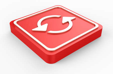 red refresh button 3D Stock Photo - 17573663