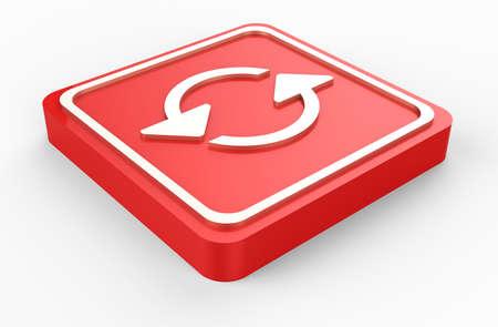 reiterate: red refresh button 3D