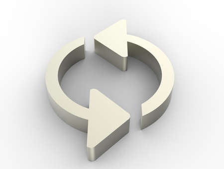 Refresh arrows 3D Stock Photo