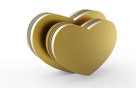golden hearts 3D Stock Photo - 17747510