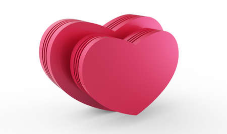 love pink hearts 3D Stock Photo
